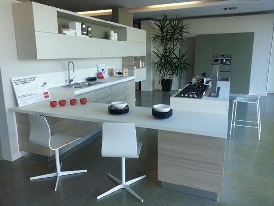Cucina scenery in laccato lucido bianco outlet ufficiale for 3 erre arredamenti