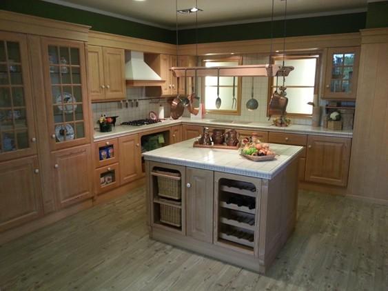 Cucina charme in legno azzurro outlet ufficiale scavolini for Lanza arredamenti