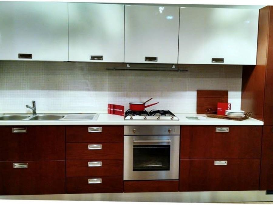 Cucina carol in laccato lucido legno ciliegio panna - Cucina scavolini carol ...