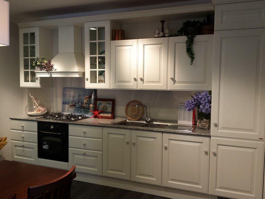 Cucina baltimora in rovere laccato bianco outlet ufficiale scavolini - Cucina baltimora scavolini prezzo ...