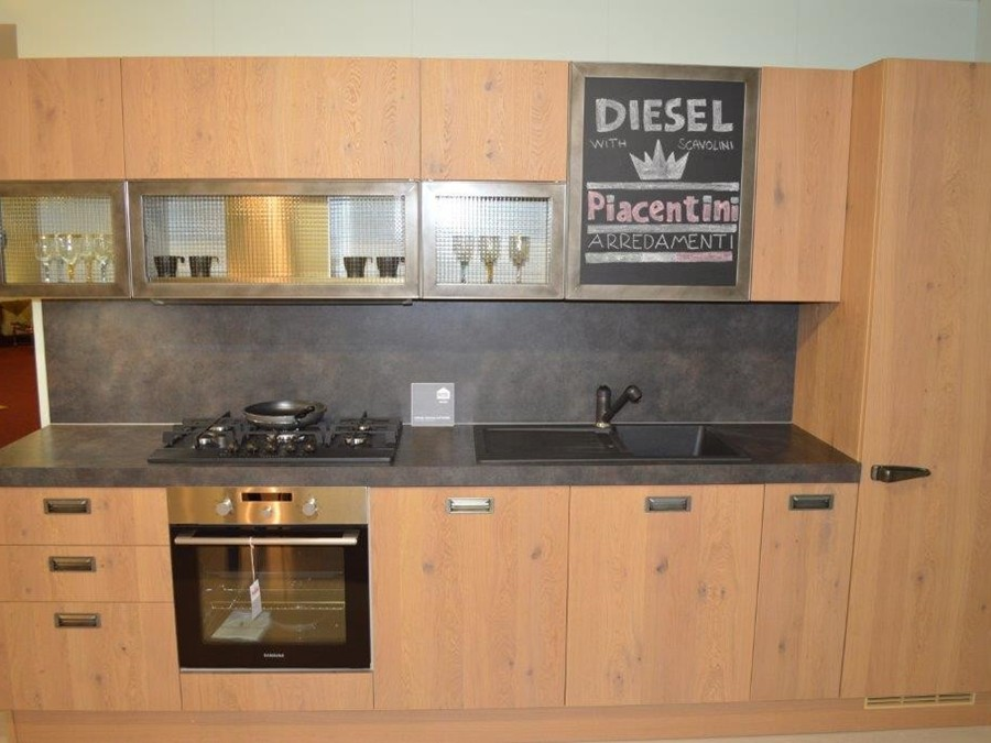 Cucina Diesel social kitchen in Legno Rovere   Outlet Ufficiale ...