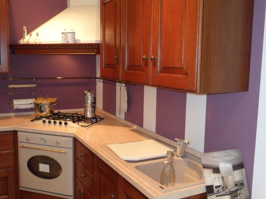 Cucina baltimora in legno noce outlet ufficiale scavolini - Barra portautensili cucina scavolini ...