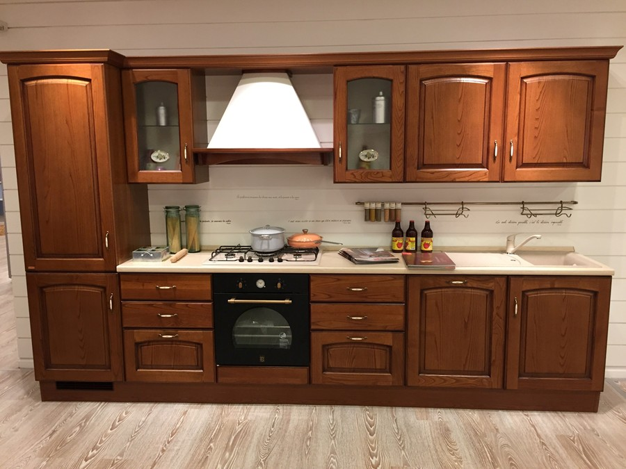 Cucina madeleine in legno outlet ufficiale scavolini - Cucina scavolini madeleine ...