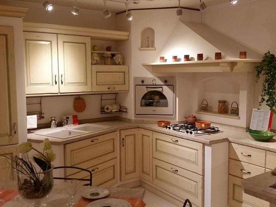 Cucina Belvedere in Legno, Rovere Panna | Outlet Ufficiale Scavolini