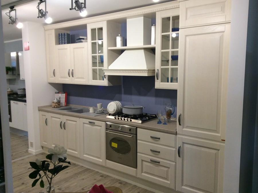 Cucina baltimora in legno bianco frassino outlet ufficiale scavolini - Cucina baltimora scavolini prezzo ...